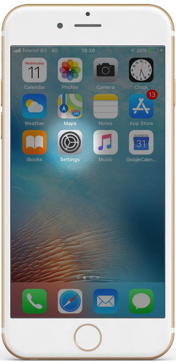 iPhone начален екран