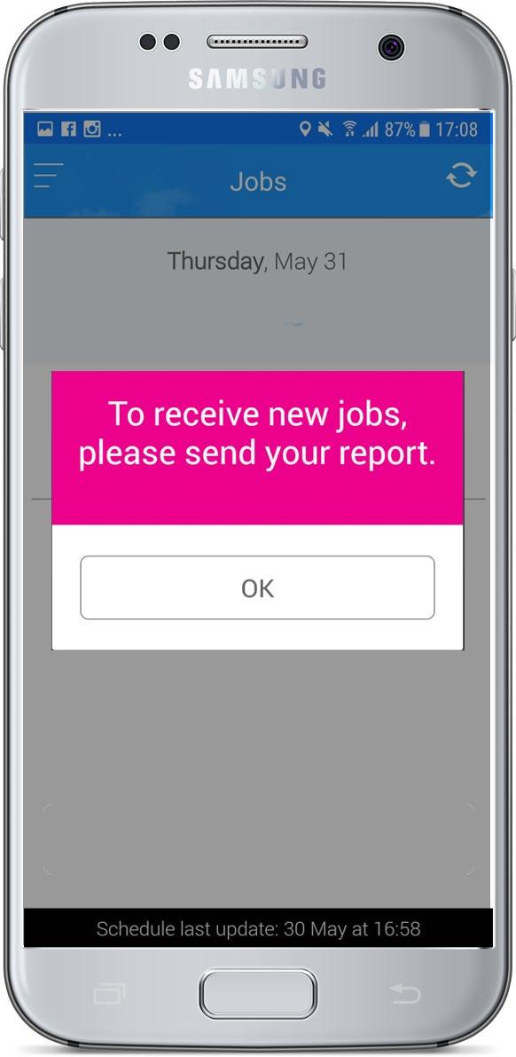 Send report reminder