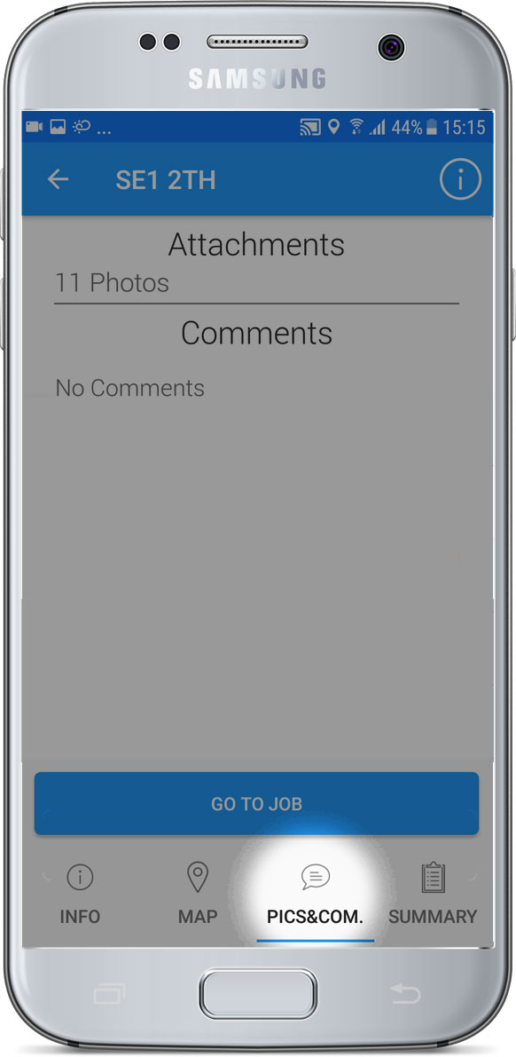 Pictures and Comments tab